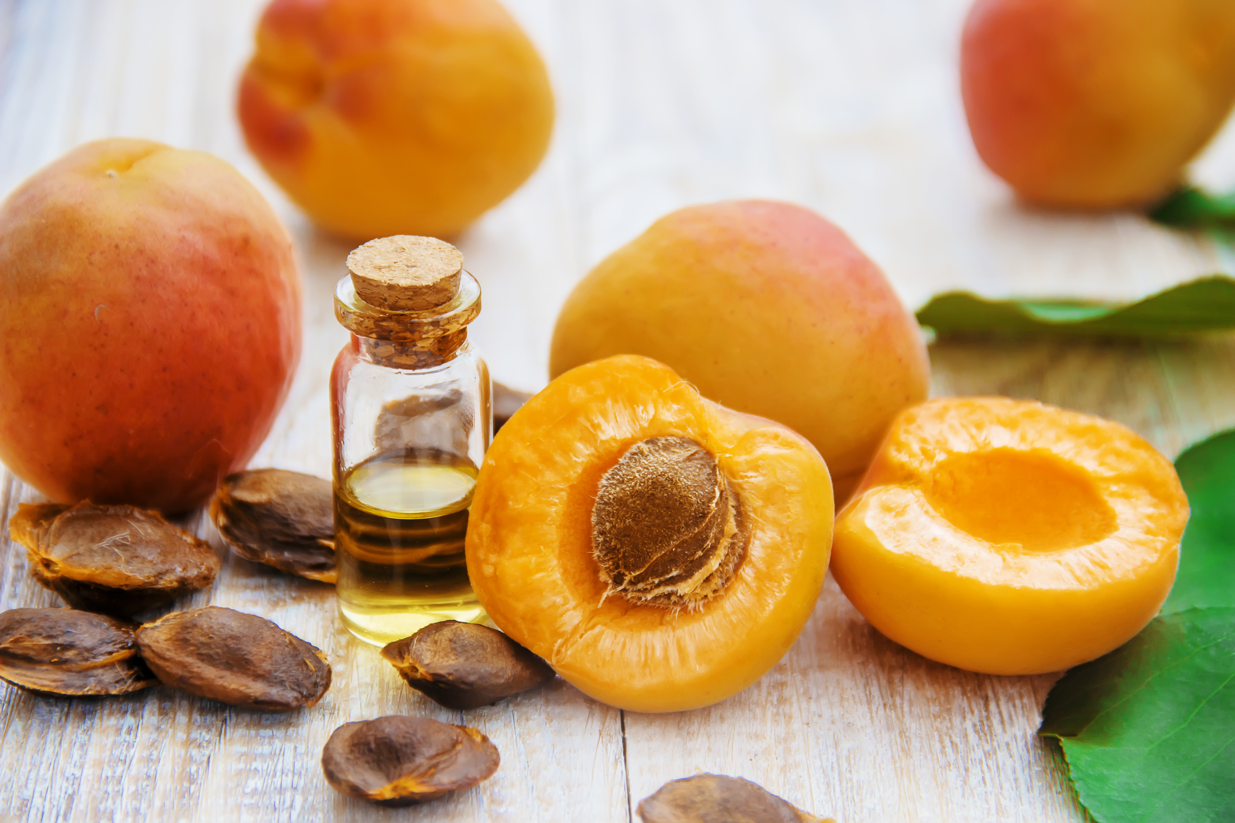 Apricot,Oil,In,A,Small,Jar.,Selective,Focus.,Nature.