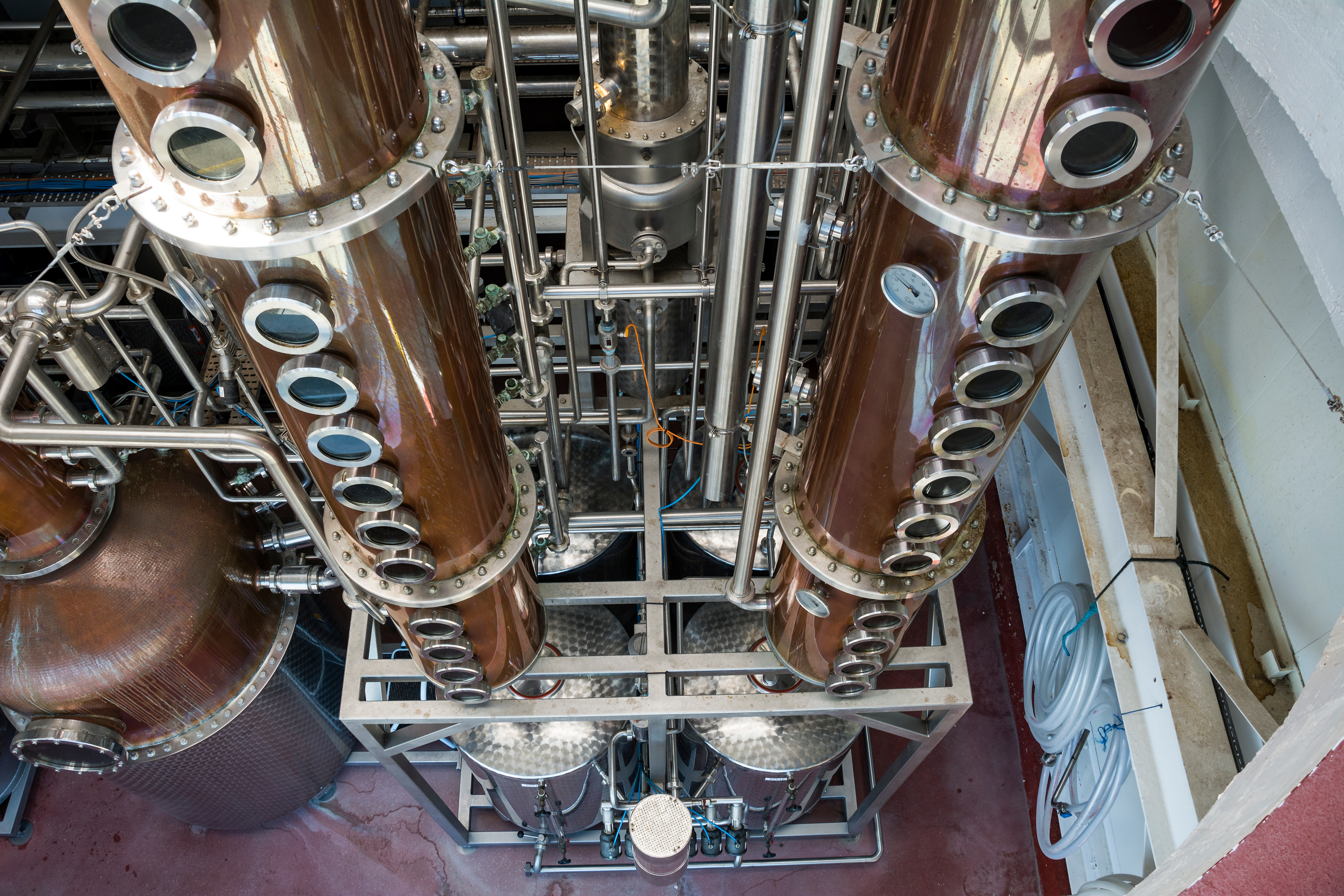 Perspective,Shot,Of,Distillery,Used,In,Process,Of,Producing,Spirits
