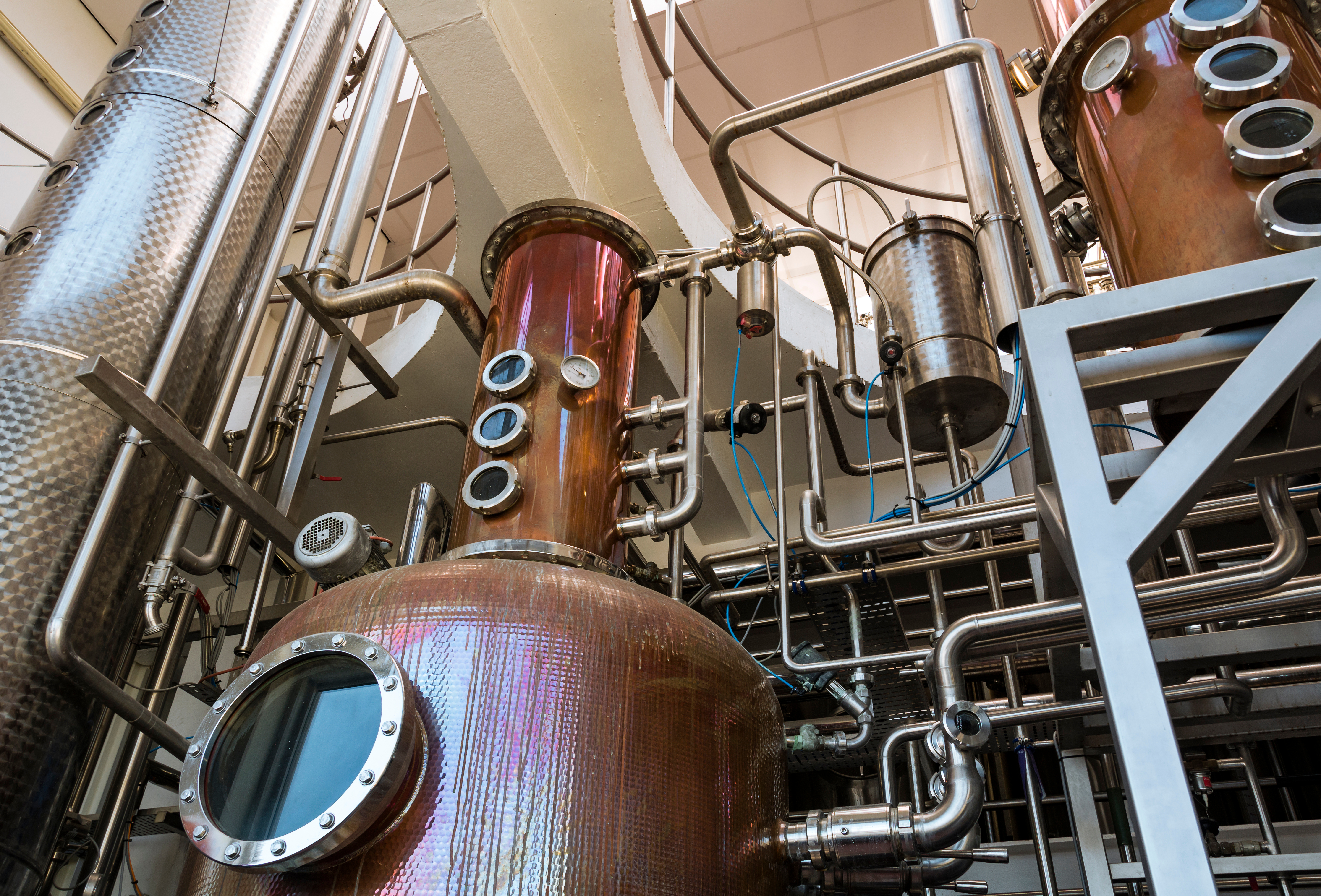 Interior,Of,Distillery,For,Manufacture,Of,Vodka,And,Gin