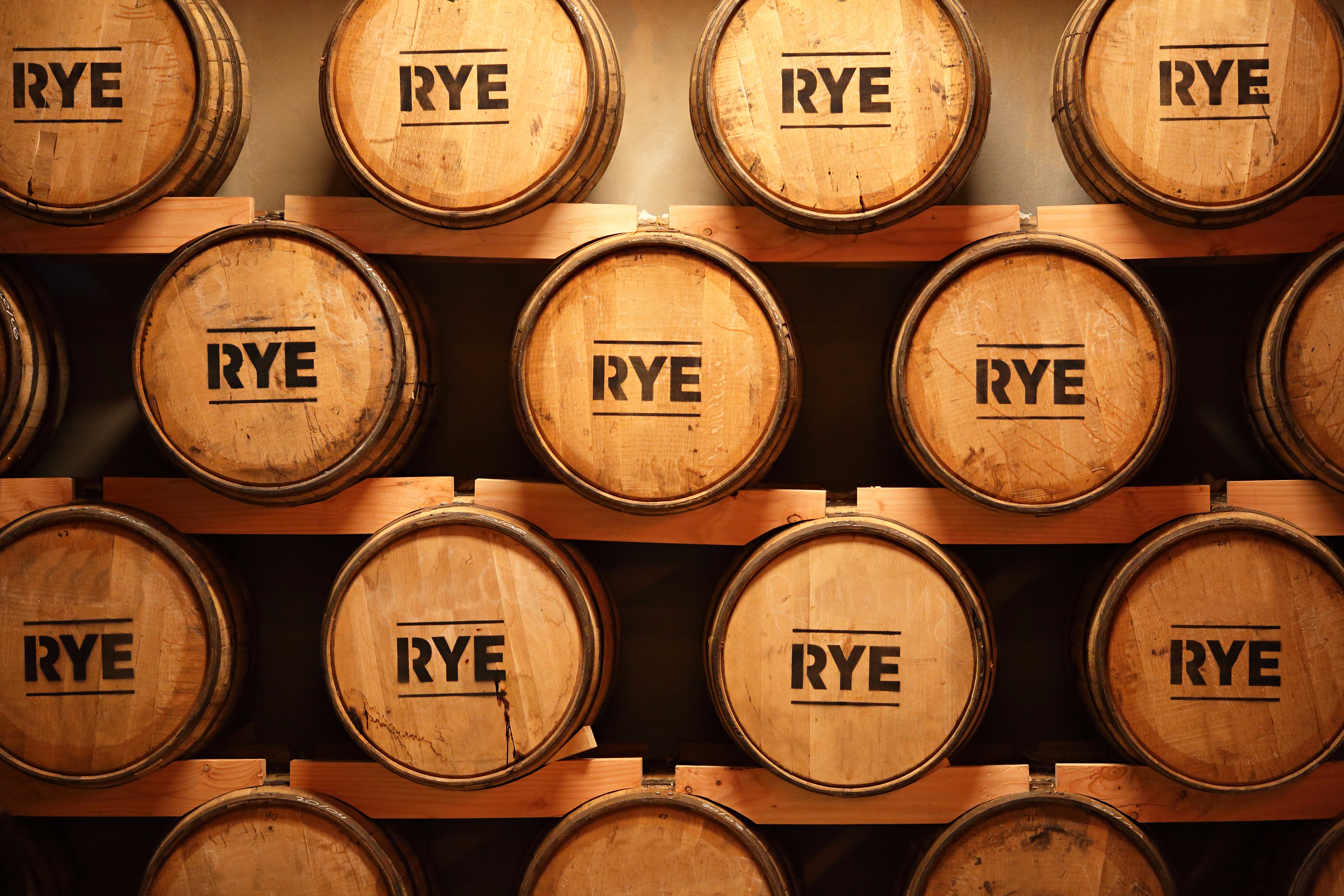 Some,Whiskey,Made,From,Rye,Aging,In,Barrels