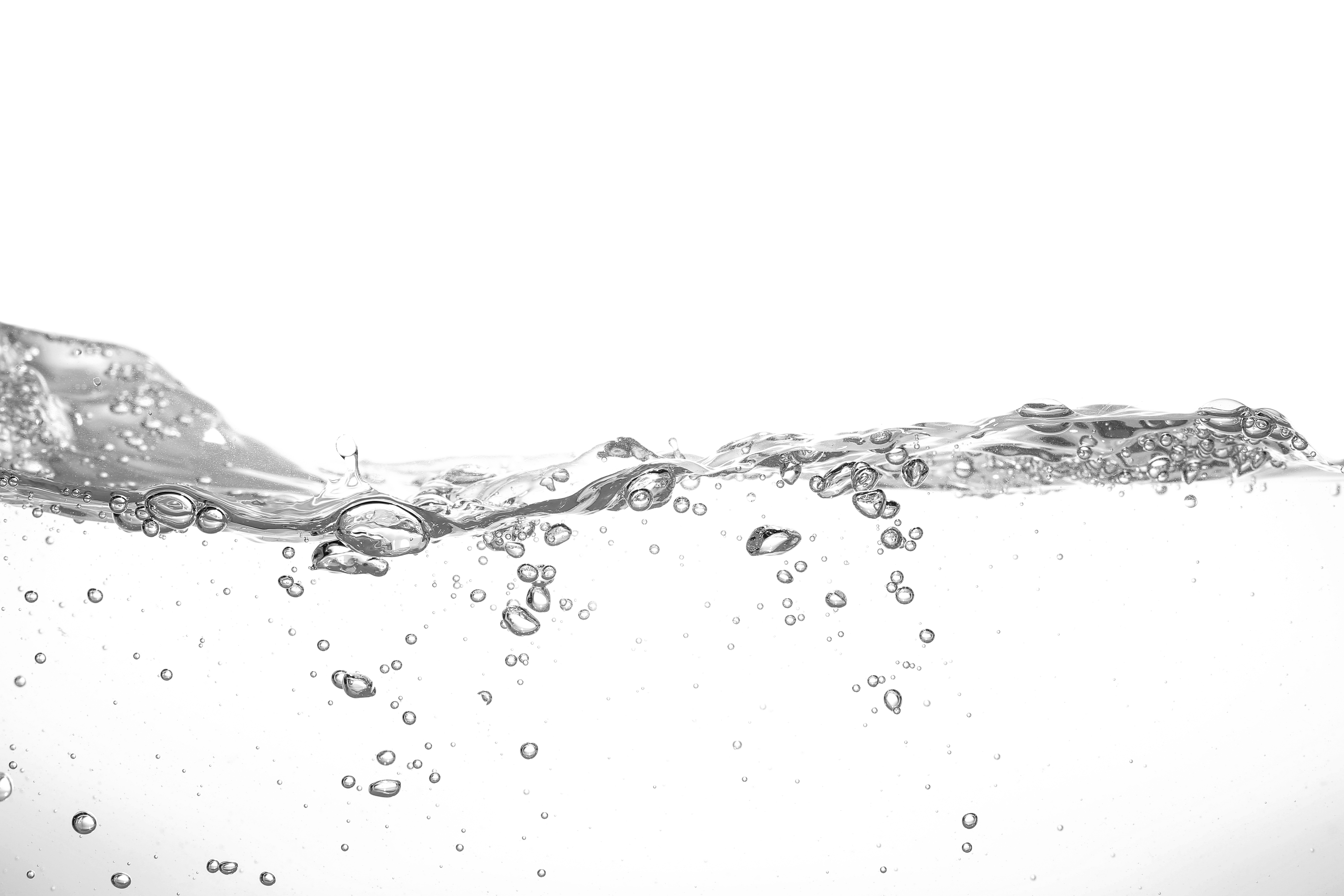 Water,Wave,Isolated,On,White,Background.